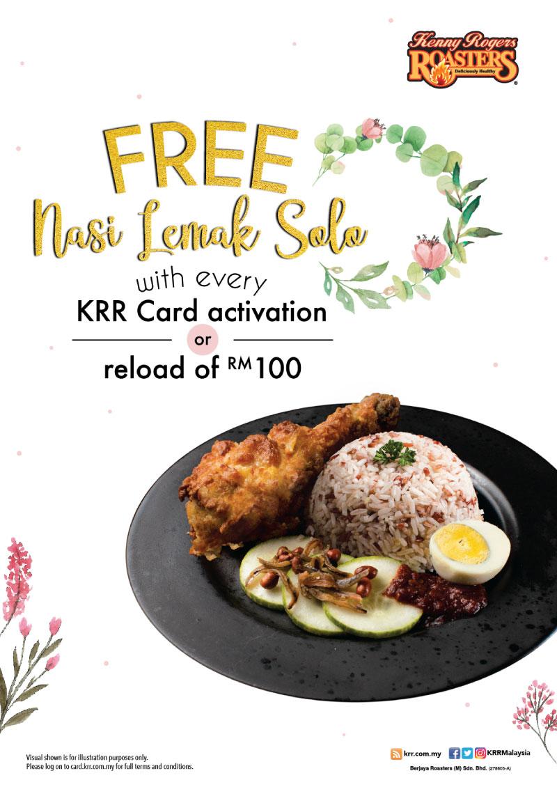 Reload RM100 Free Nasi Lemak Solo